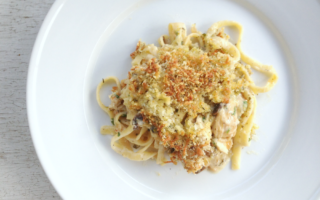 Homemade Turkey Tetrazzini is a delicious way to use up leftover turkey (try making it with chicken, too)!